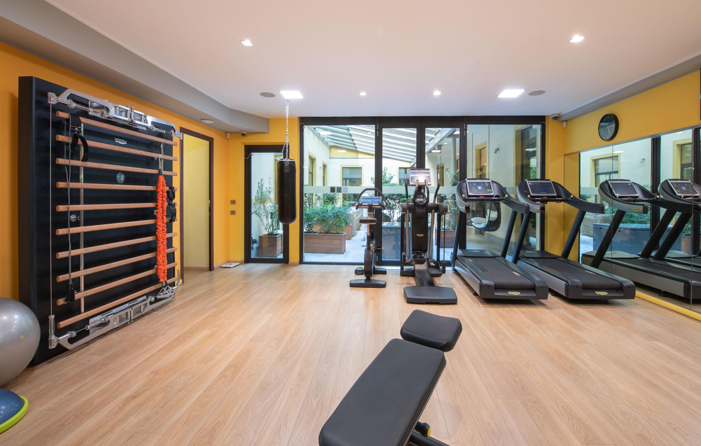 area fitness con macchine technogym
