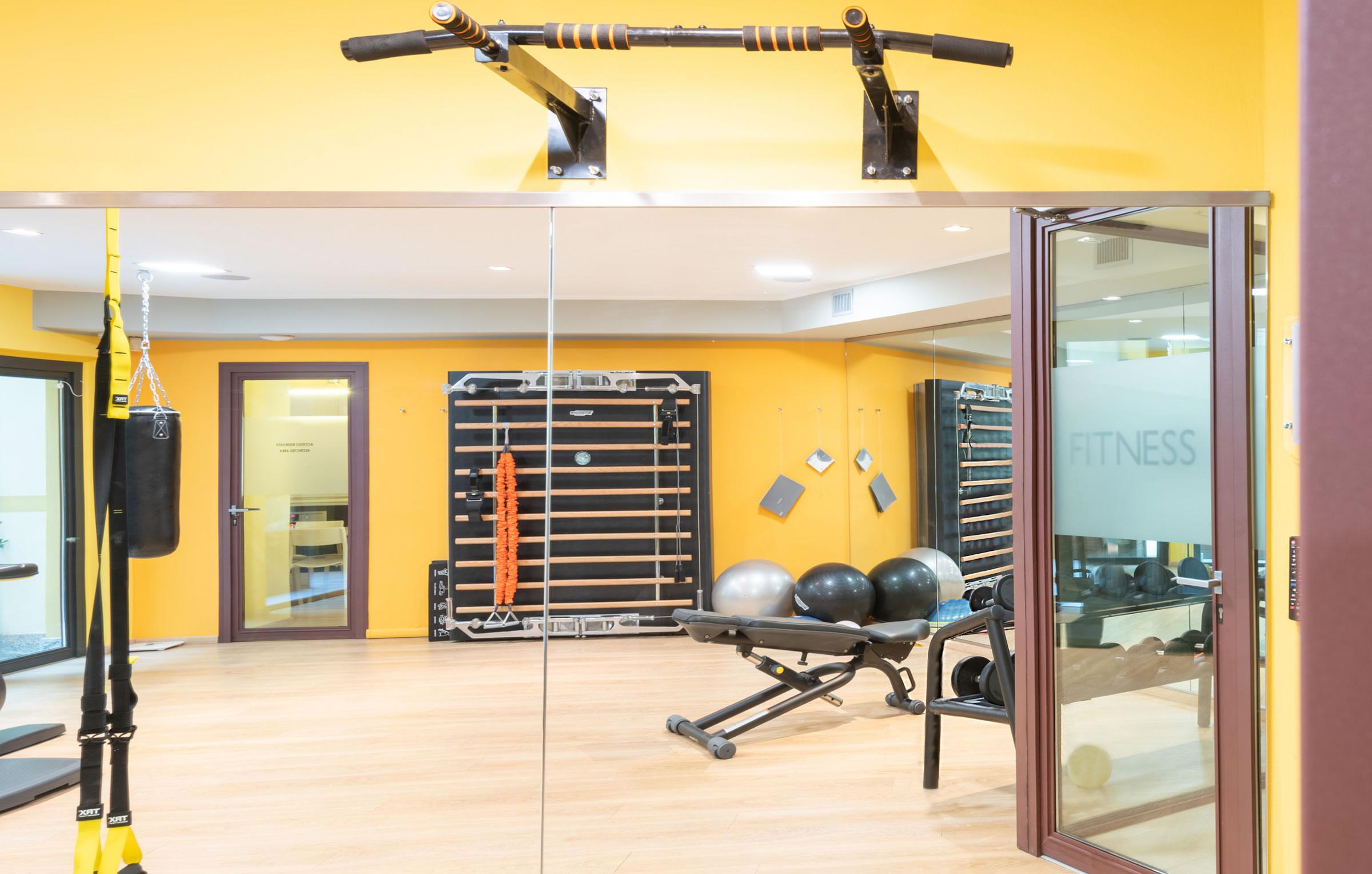 pesi, palla, elastici, kinesis, sacco box,tapis roulant, bike