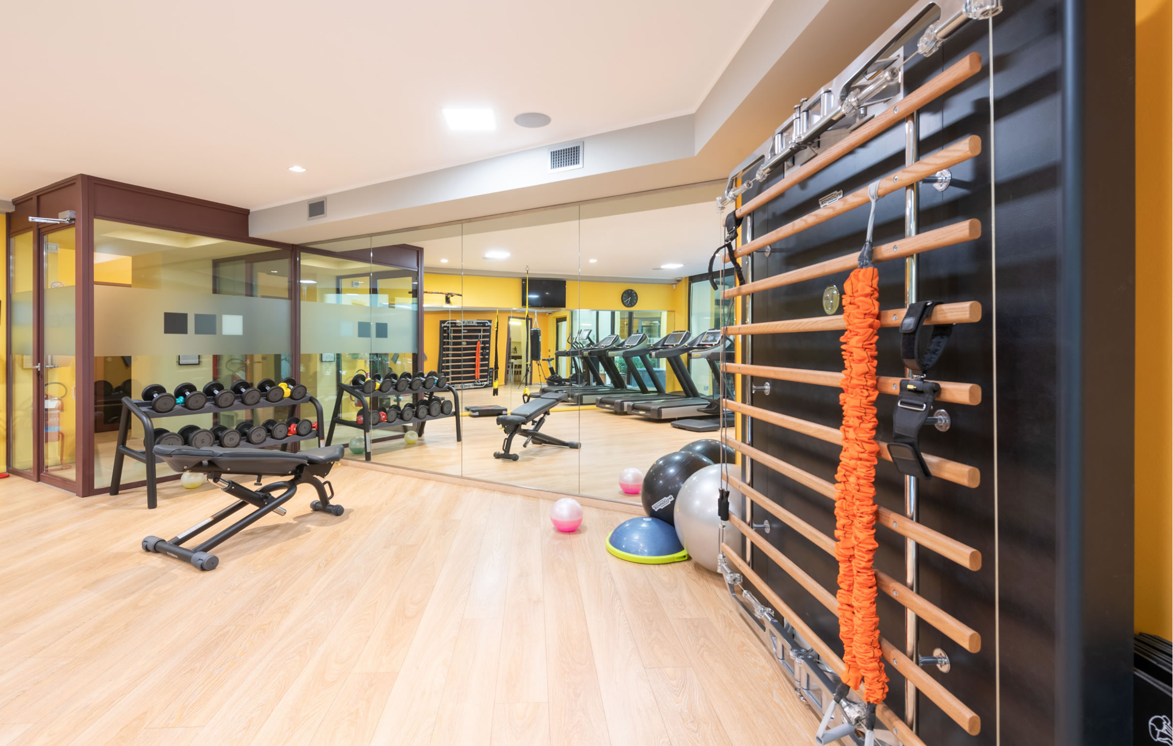 area fitness con macchine technogym
