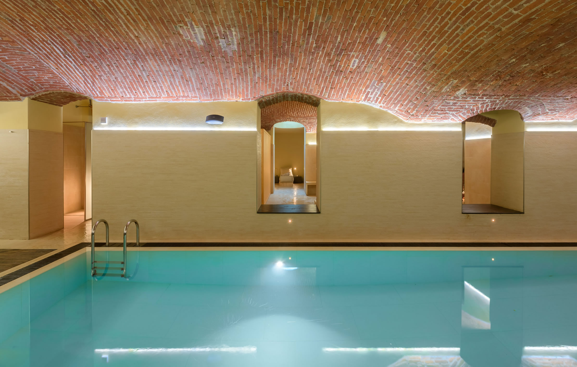 piscina con acqua salata