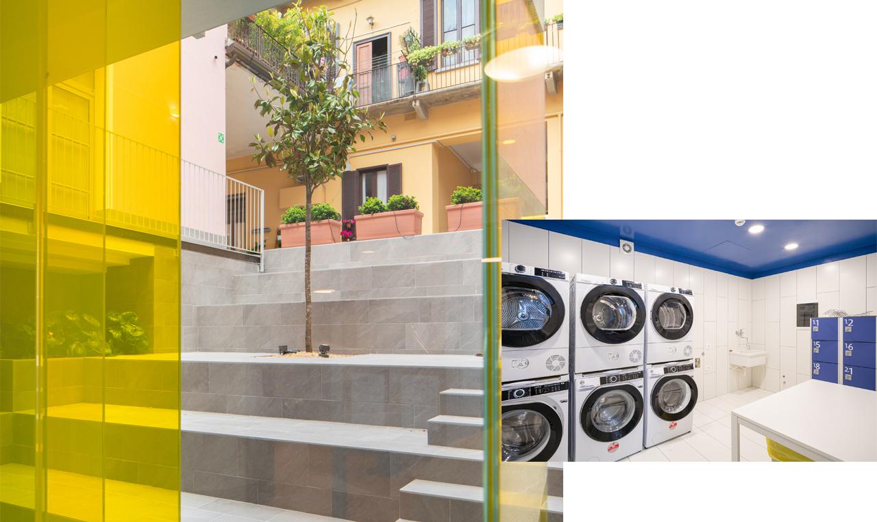 Locale lavanderia comune